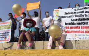 Protestan por desabasto de medicamentos para niños con cáncer