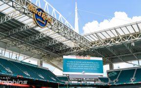 El Hard Rock Stadium admitirá 13 mil aficionados ante los Bills. (Foto: @MiamiDolphins)
