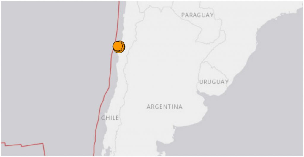 Sismo de 6.8 sacude Chile; no se reportan víctimas