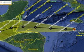 Trayectoria de la tormenta tropical 'Nana'