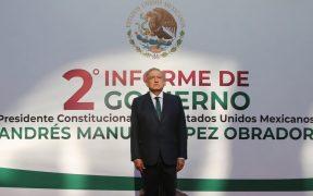 AMLO rindió su segundo informe presidencial.