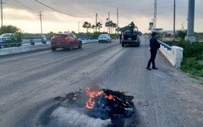 Reportan bloqueos en carreteras de Reynosa, Tamaulipas