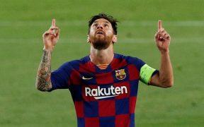 Lionel Messi festeja un gol con el Barcelona. (Foto: Reuters)