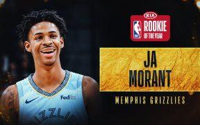 Ja Morant recibio 99 de 100 votos de primer lugar para Novato del Año de la NBA. (Foto: @NBA)