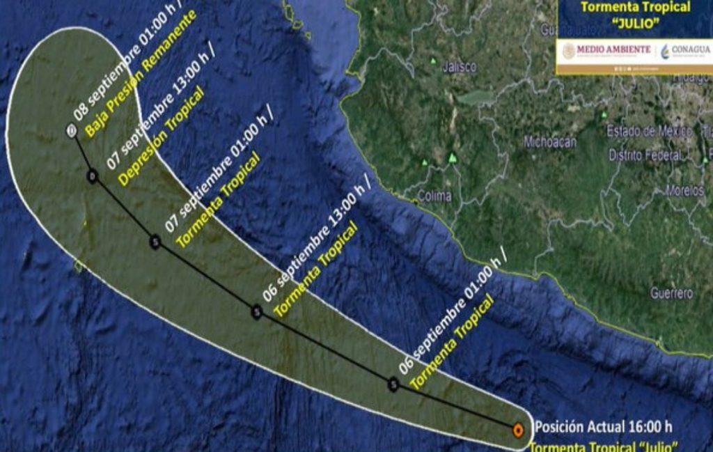 Se forma la tormenta tropical 'Julio' en las costas de Guerrero