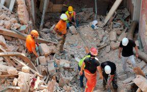 Afirman que no hay señales de vida en escombros de edificio en Beirut
