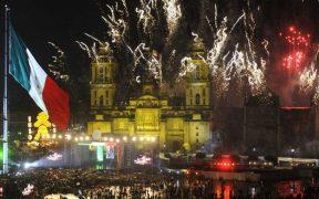 Festejos patrios en el Zócalo de la CDMX.