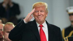 Donald Trump en evento de campaña..