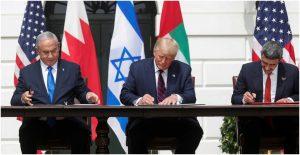 Firma de acuerdos de paz entre Israel, Bahrein y EAU