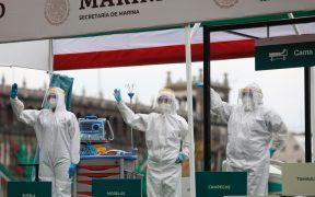 Suspenden reporte de la pandemia... desfilan carros alegóricos de hospitales Covid