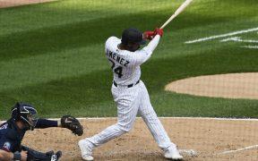 Eloy Jiménez decidió el juego ante Twins y le dio a los White Sox su pase a playoffs. (Foto: Reuters)