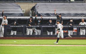 Los Yankees consiguieron cinco jonrones en la cuarta entrada. (Foto: @Yankees)