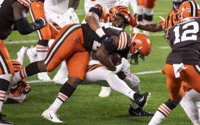 Nick Chubb logró dos anotaciones para el triunfo de Browns sobre Bengals. (Foto: Reuters)