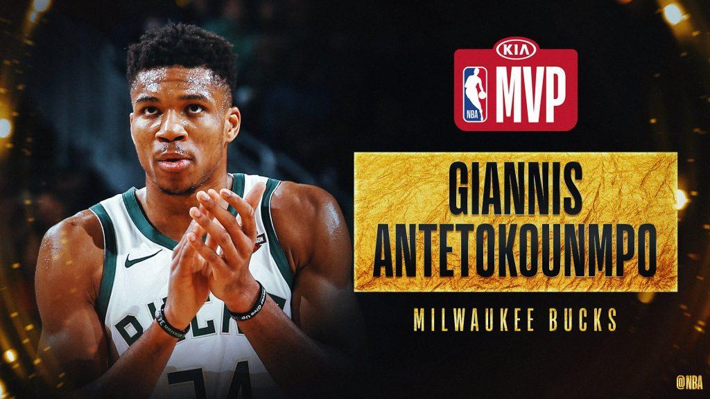 Antetokounmpo consigue su segundo premio MVP de manera consecutiva. (Foto: NBA)