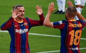 Griezmann resolvió el partido a favor del Barcelona al minuto 2. (Foto: EFE)