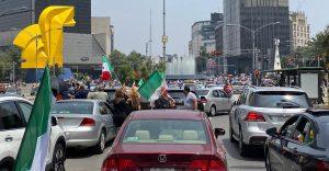 Frente AntiAMLO(FRENAAA) se manifiesta en Paseo de la Reforma