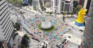 FRENAAA extendió su plantón hasta el cruce de Reforma, Bucareli y avenida Juárez.