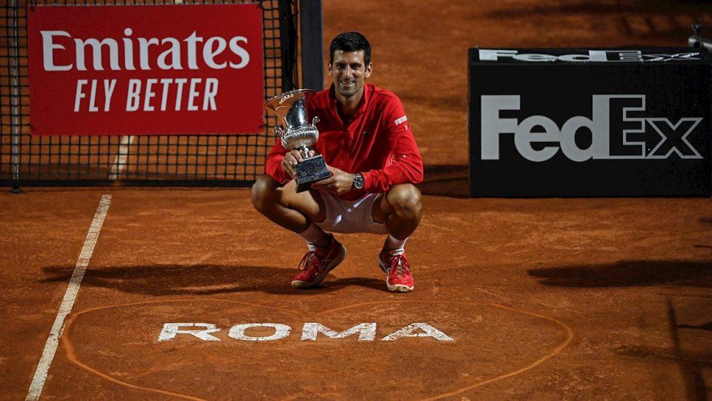 Djokovic ganó su título 36 de Masters 1000 y el quinto en Roma. (Foto: EFE)