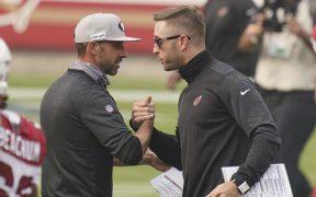 Kyle Shanahan, entrenador de los 49ers de San Francisco, es uno de los multados. (Foto: Reuters)