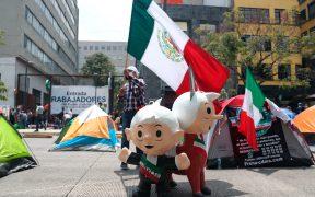 Gobierno de la CDMX permite el paso al zócalo al FRENAAA