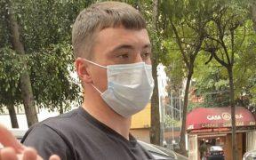 Viñas se vio involucrado en un accidente de tránsito al salir del Club América. (Foto: @RoaBntt)