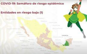 Campeche es el primer estado en pasar a semáforo verde; 16 entidades están en amarillo