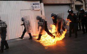 Gobierno de la CDMX reporta 6 lesionados tras marcha por los 43 normalistas de Ayotzinapa