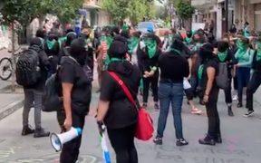 Colectivos Feministas protestan en la capital del país.
