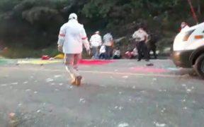 Accidente carretero en Chiapas deja 13 muertos y 21 personas lesionadas