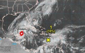 """La tormenta tropical """"Gamma"""" se forma cerca de Cozumel"""
