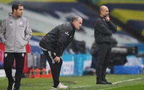 Bielsa le arrancó un empate a Guardiola, en un duelo táctico interesante. (Foto: Reuters)