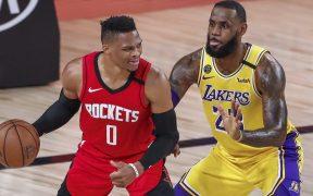 Westbrook pasó casi dos meses en la burbuja de la NBA con los Rockets. (Foto: EFE)