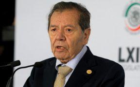 "Muñoz Ledo promete ir a la Corte ""gane o no"" la encuesta de Morena; ""la tercera es la vencida"", dice Delgado"