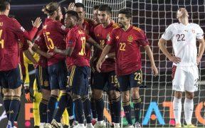 España no brilló ante Suiza, pero ganó con un gol de Oyarzabal. (Foto: EFE)