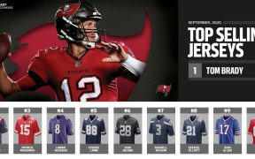 Brady domina la venta de jerseys de la NFL en su nueva etapa con Tampa Bay. (Foto: @OfficialNFLShop)