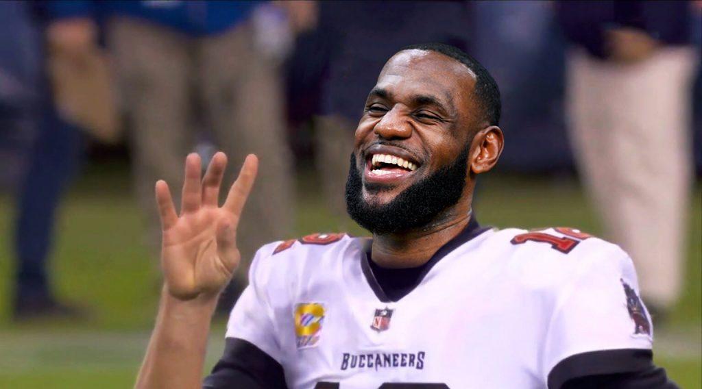 Brady felicitó a LeBron y, de paso, hizo burla de su error de la semana pasada ante Chicago.