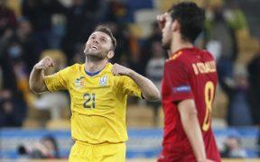 Ucrania se impuso a España y subió al segundo lugar de su grupo en la Liga de Naciones.
