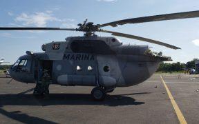 Se desploma helicóptero de la Marina en Villahermosa; reportan heridos