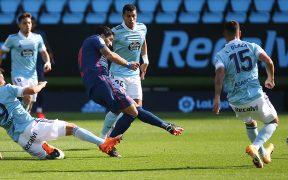 Luis Suárez marcó el 1-0 en el triunfo del Atlético de Madrid sobre el Celta.