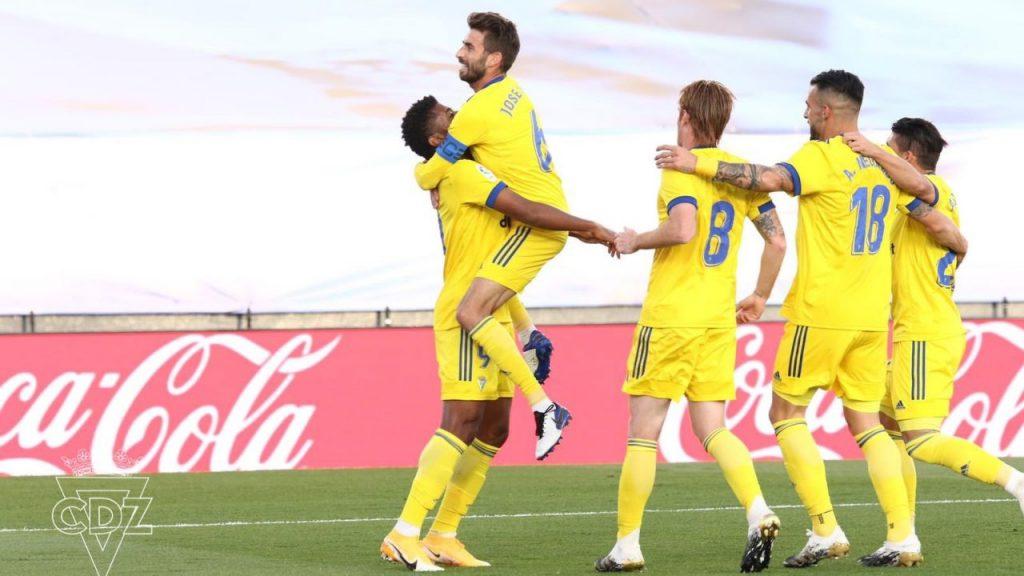 El Cádiz venció por primera vez en su historia al Real Madrid. (Foto: @Cadiz_CF)