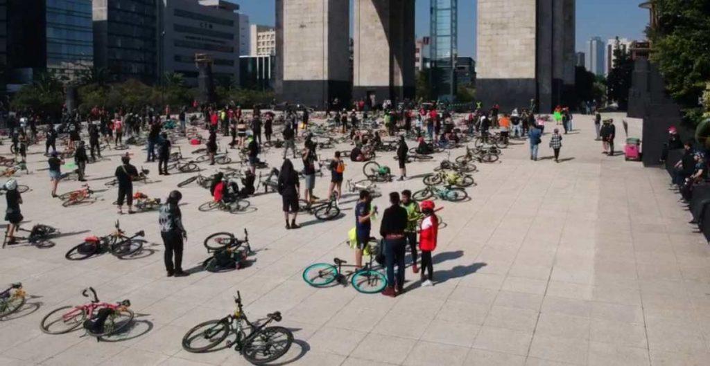 Protestan en las Ciudad de México por la muerte de ciclistas