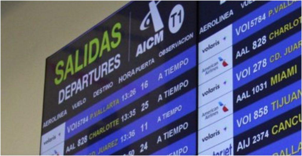 Regularizan comunicaciones en AICM que afectaron vuelos desde EU y México