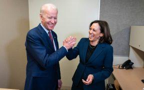 """""""En un año celebremos en la Casa Blanca"""", Biden felicita a Kamala por su cumpleaños"""