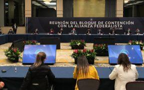 Alianza Federalista y senadores de oposición se reúnen contra extinción de fideicomisos