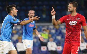 El 'Chucky' Lozano y el Napoli cayeron ante el AZ Alkmaar en el inicio de la Europa League.