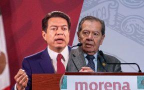 """Declaran a Delgado ganador en Morena; """"trampa"""", clama Muñoz Ledo"""