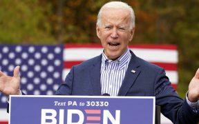 Biden dice extrañar cercanía con votantes, pero no quiere más contagios
