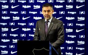 Josep Maria Bartomeu presentó su renuncia como presidente del Barcelona.