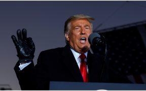 Donald Trump, presidente de EU, en campaña desde Pennsylvania