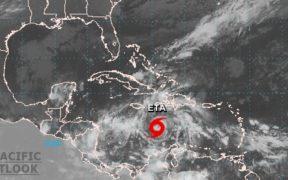 Depresión tropical se fortalece en la tormenta 'Eta' en el Caribe